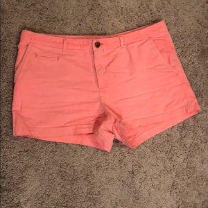 "EUC Gap size 10 orange/coral shorts 3"" inseam"